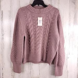 A New Day Crewneck Cable Stitch Pullover Sweater M